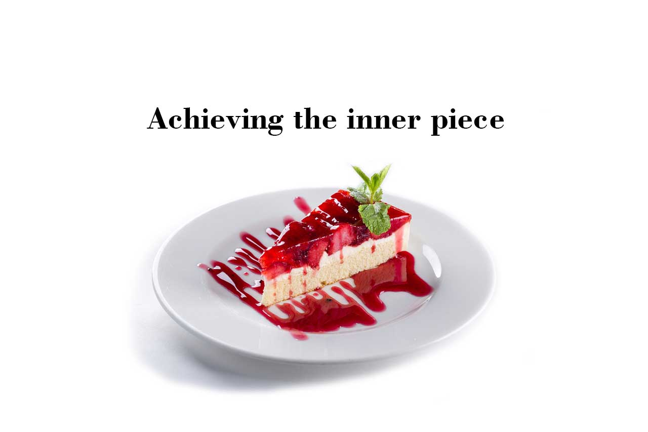 delicious cake, inner piece, inner peace